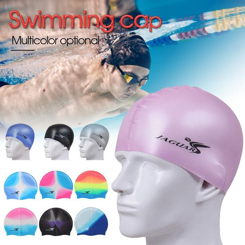 baf960d1b19 2019 Solid Silicone Swim Cap 2019 Protect Ears Long Hair Sports Swim Pool  Hat Swimming Cap Free Size For Men & Women Adults From Kangshifuwat, ...