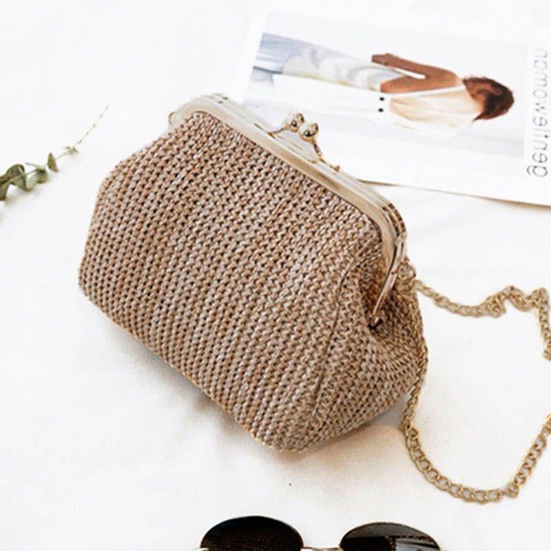 f0efb50cf7e2e Small Crossbody Boho Bag For Women Evening Clutch Bags Hasp Ladies Handbag  Female Straw Beach Rattan Bags Women Beach Bag W407 #806014