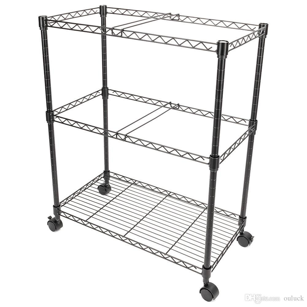 f94c04ec89d3 Two Tier Metal Rolling Mobile File Cart for Letter Size Office Supplies  2-Tier Metal Rolling File Cart