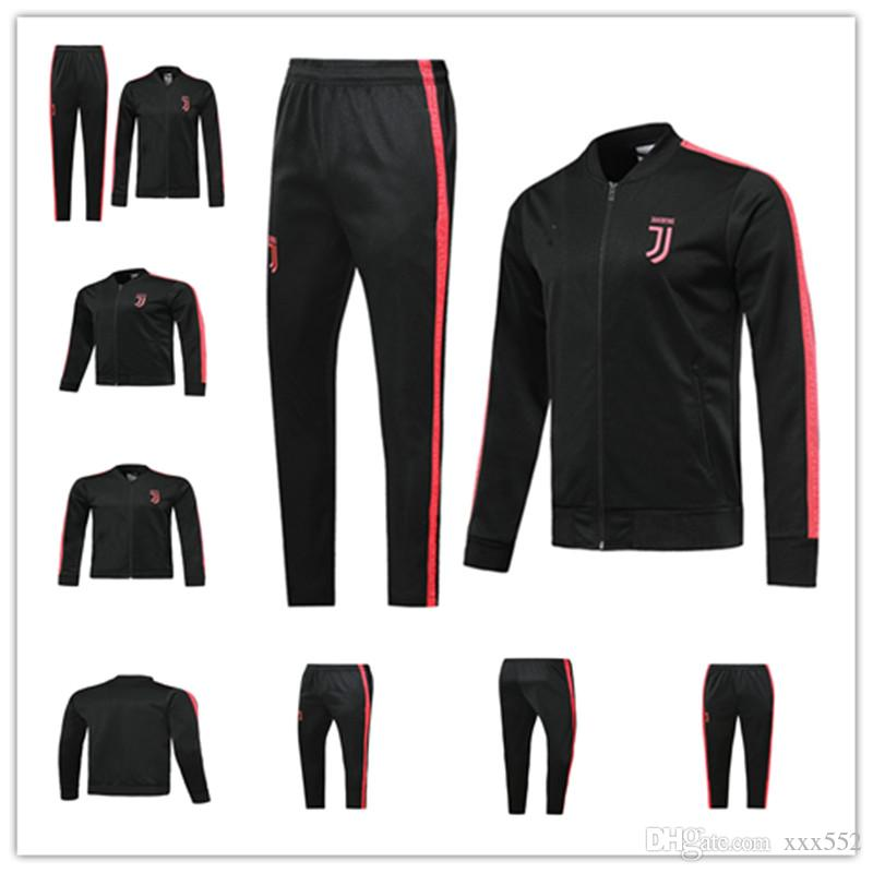size 40 264a5 9dc40 2019 2020 Juventus juve RONALDO soccer jersey jacket tracksuit jogging  training suit Survetement 19 20 jacket sportswear DYBALA kit 1