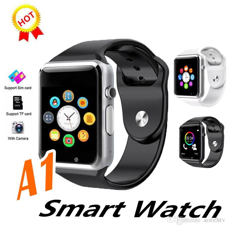 A1 Smart Watch Wearable Android Bluetooth Smartwatch Support Android and IOS SIM and TF card slot In Stock Fast Shipping VS DZ09 GT08