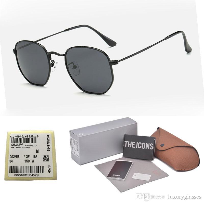 860ba2fb37 Compre Gafas De Sol De Moda Mujer Hombre Diseñador De La Marca Hexágono  Meta Marco Gafas De Sol UV400 Lentes De Lentes De Vidrio Gafas De Sol Con  Estuches Y ...