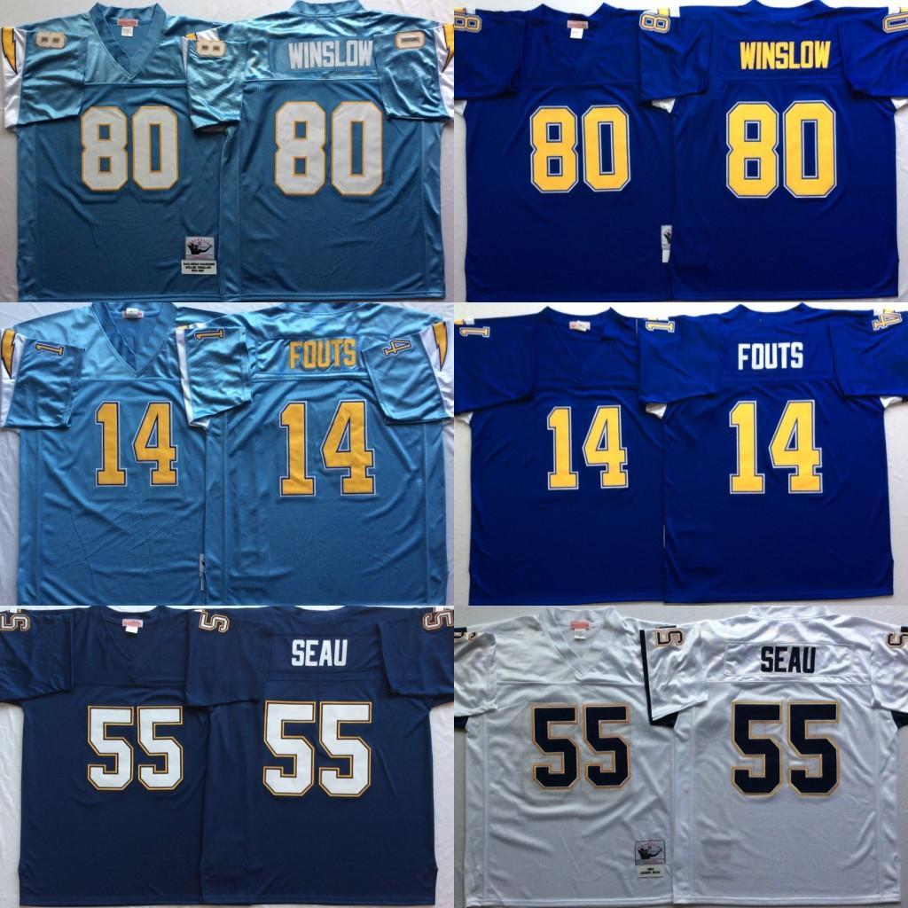 4c02d3a1d 2019 Vintage San Diego Junior Seau Chargers 14 Dan Fouts 55 Junior ...