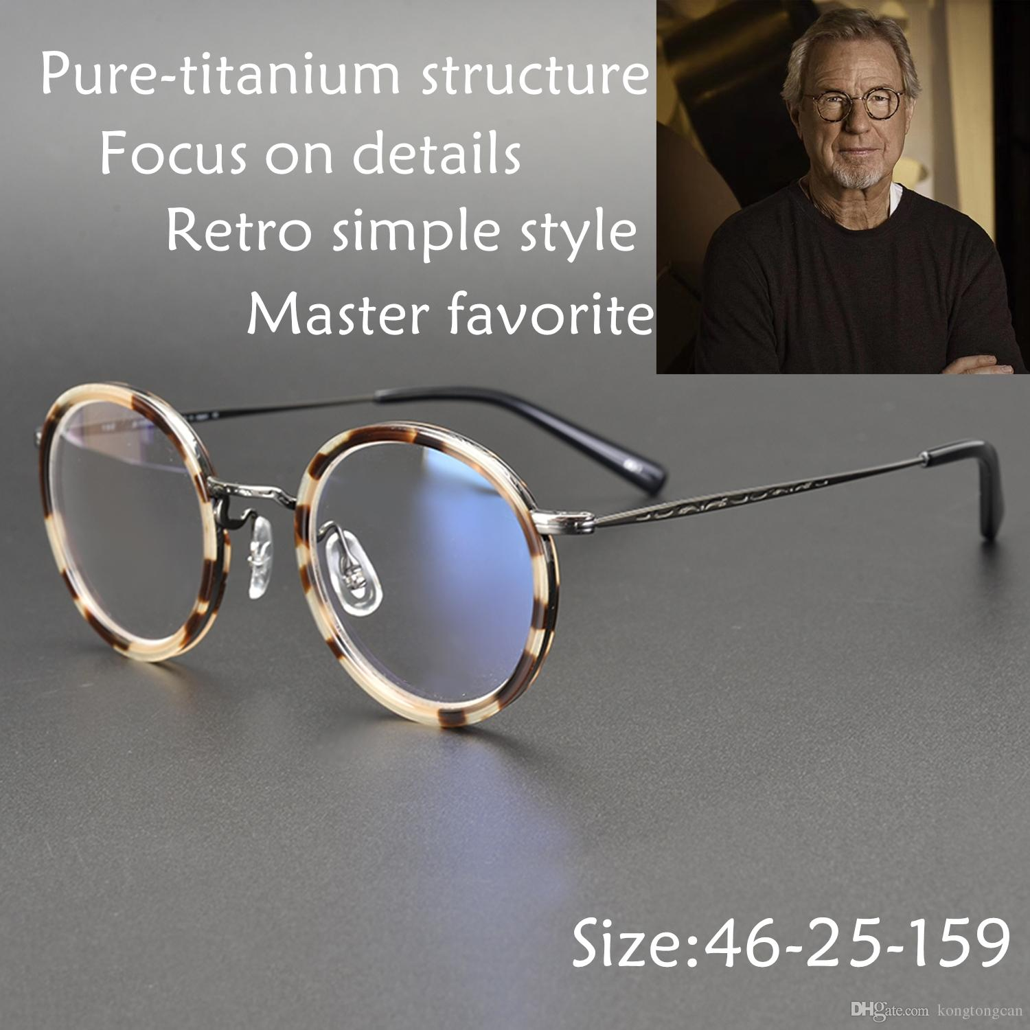 2a5586b8ae 2019 Vintage Retro Simple Masunaga Eyeglasses Pure Titanium GMS 804 Acetate  Frame Women Man Brand Design Original Box And Case Prescription Lens From  ...