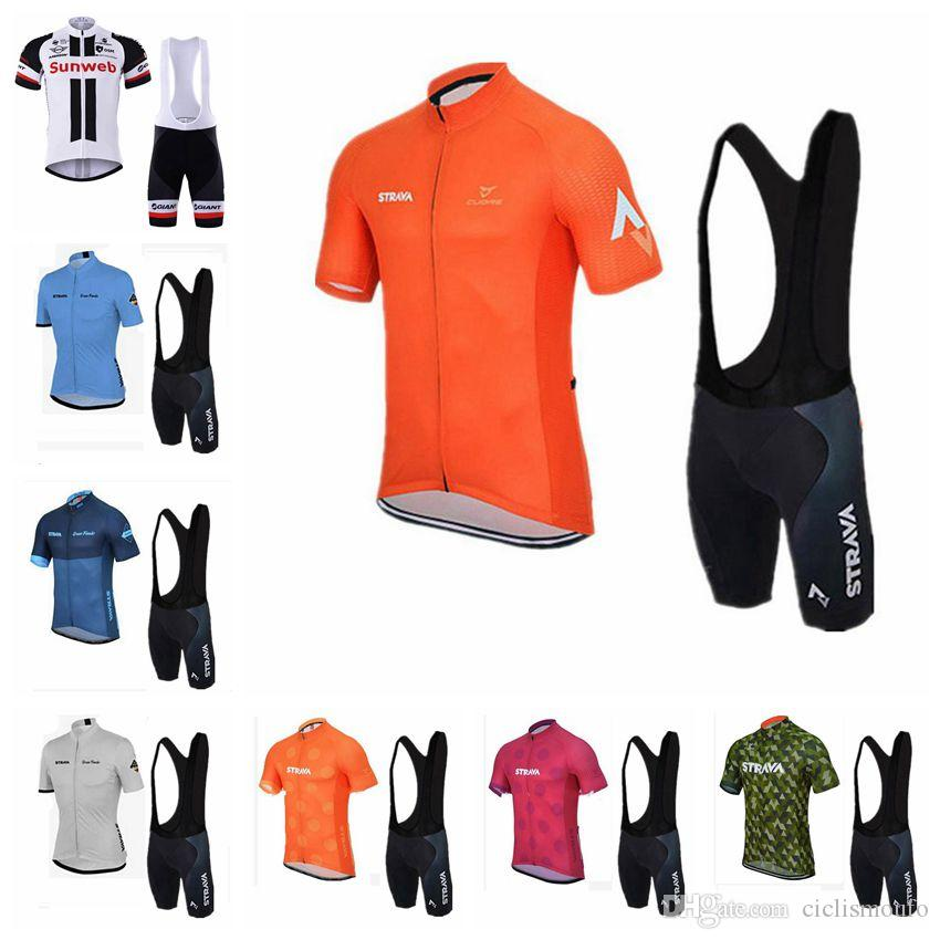 STRAVA SUNWEB Team Cycling Short Sleeves Jersey Bib Shorts Sets Summer  Style Bicycle Quick Drying Breathable Men S Clothes U30649 Womens Cycling  Jerseys ... 6e50e8a3e