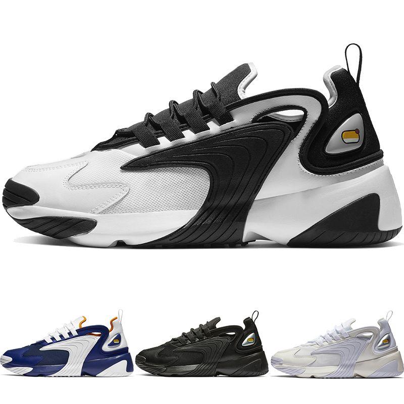 Date Zoom 2K Hommes Lifestyle Running Chaussures Blanc Noir Bleu ZM 2000 des années 90 style Trainer Designer Baskets En Plein Air M2K Confortable