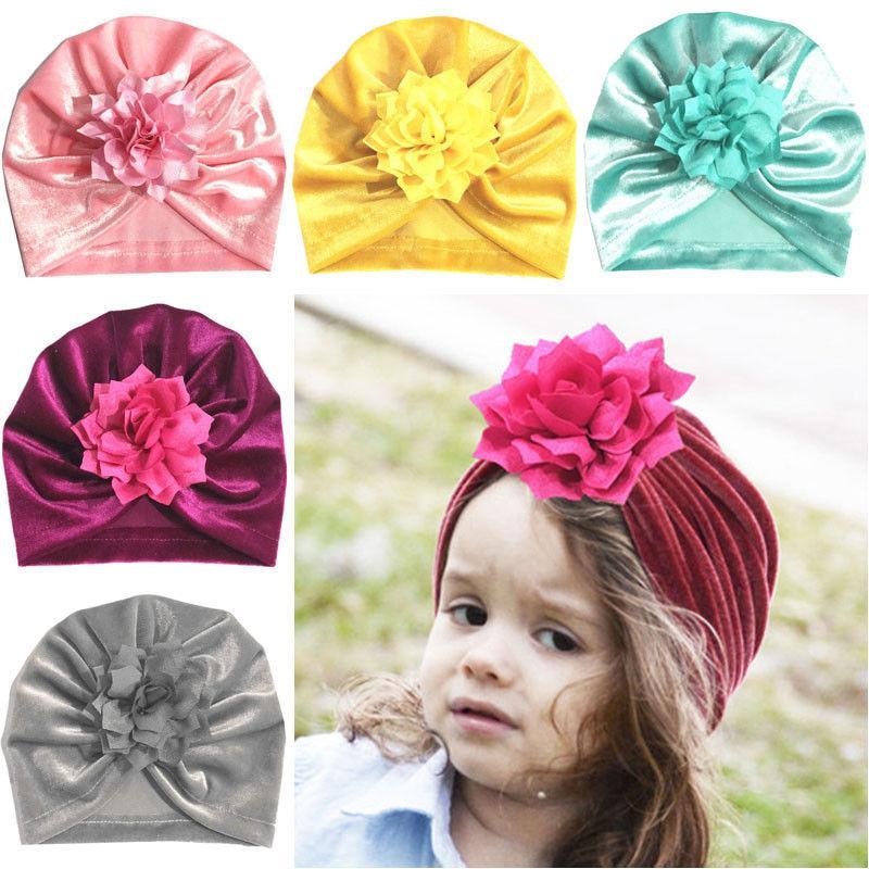 Acheter Nouveau Né Bébé Fille Chapeau Fleur Turban Indien Chapeau Lapin  Noeud Filles Bonnet Élastique Infant Bonnet Hiver Bébé Photographie Props  De  36.38 ... 5d89aafae3d