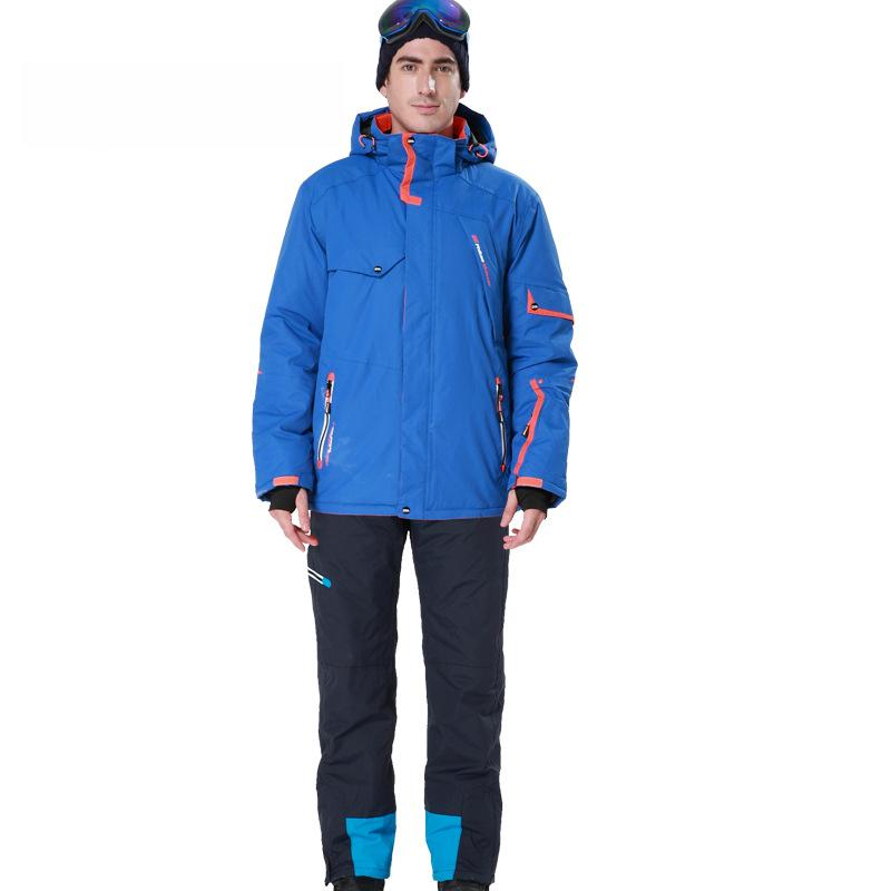 ee25901e8d4 Compre Conjunto De Ropa De Esquí Para Hombre Traje De Esquí De Marca A  Prueba De Viento Chaqueta Caliente Impermeable + Pantalones Índice Frío 30  Conjunto ...