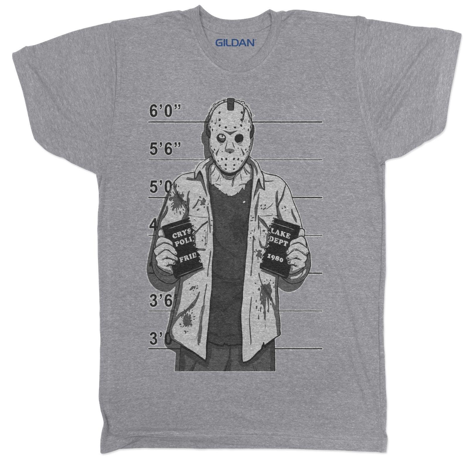 a5759a1e1ef8c4 FRIDAY 13TH JASON HORROR FILM MOVIE FREDDY CHUCKY TUMBLR HALLOWEEN GREY T  SHIRT Classic Quality High Cool Sweatshirts Online Random Funny T Shirts  From ...
