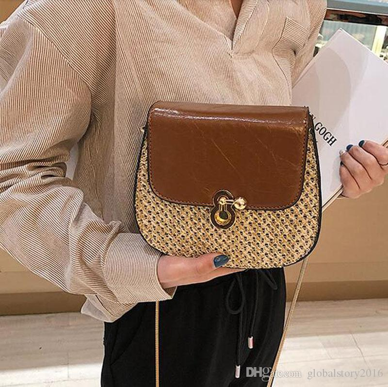 Straw Crossbody Bag Vintage Tote Shoulder Bag Fashion Small Women