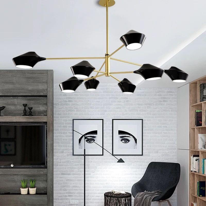 JESS Moderne noir / blanc mode minimaliste chambre salle à manger accueil  éclairage designer style art salon led lustre AC90-265V