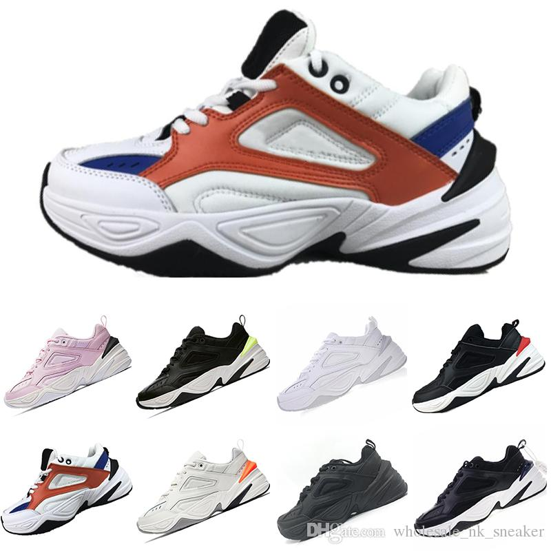 da49a7e2aec2 Top Fashion Air Monarch The M2K Tekno Dad Sports Running Shoes Off Top  Quality Women Mens Designer Zapatillas White Sports Trainers Sneakers Sport  Shoes ...