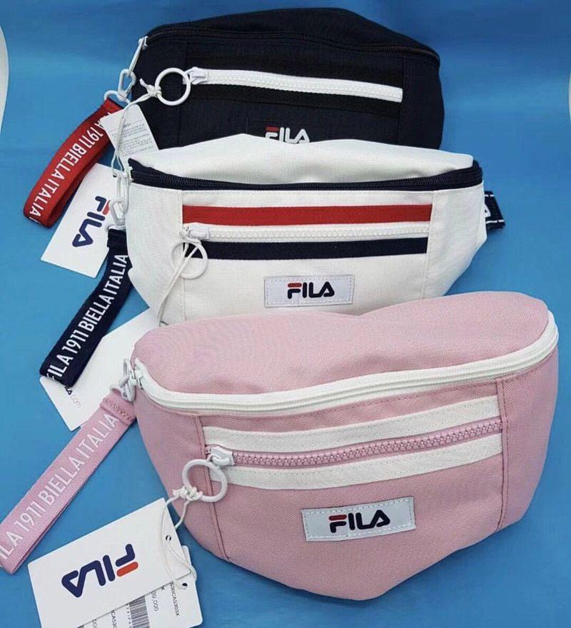 0f693ecf06ca FILA Fanny Pack Dumpling Shape Clutch Chest Bag Fashion Hip-hop Purse Bags  Mini Canvas Waist Bag Pink White   Black Fila Fanny Pack Canvas Chest Bag  Waist ...