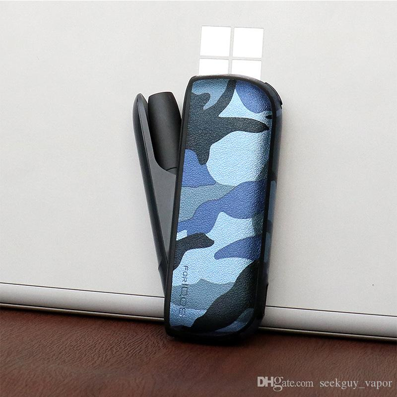 Camouflage Leather case for IQOS 3.0 Leather Case E-cigarette Accessories Ultra-thin Drop-proof Holster cover for IQOS 3.0 E Cig Case