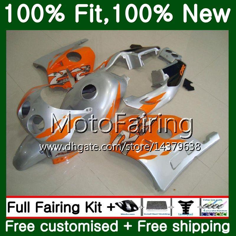 HONDA CBR 250RR CBR250RR 95 96 97 98 99 Enjeksiyon + Tankı Turuncu gümüş 77MF22 MC22 CBR250 RR 1995 1996 1997 1998 1999 Fairing Karoser