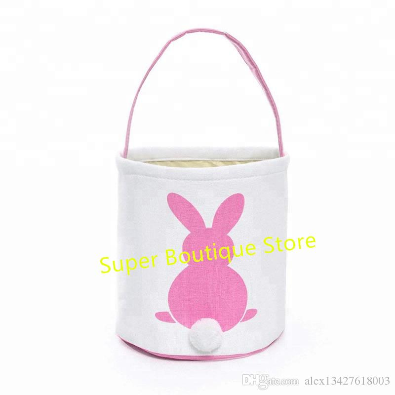 2019 Top Sell New Arrival Bunny Canvas Basket Tails Kids Bucket