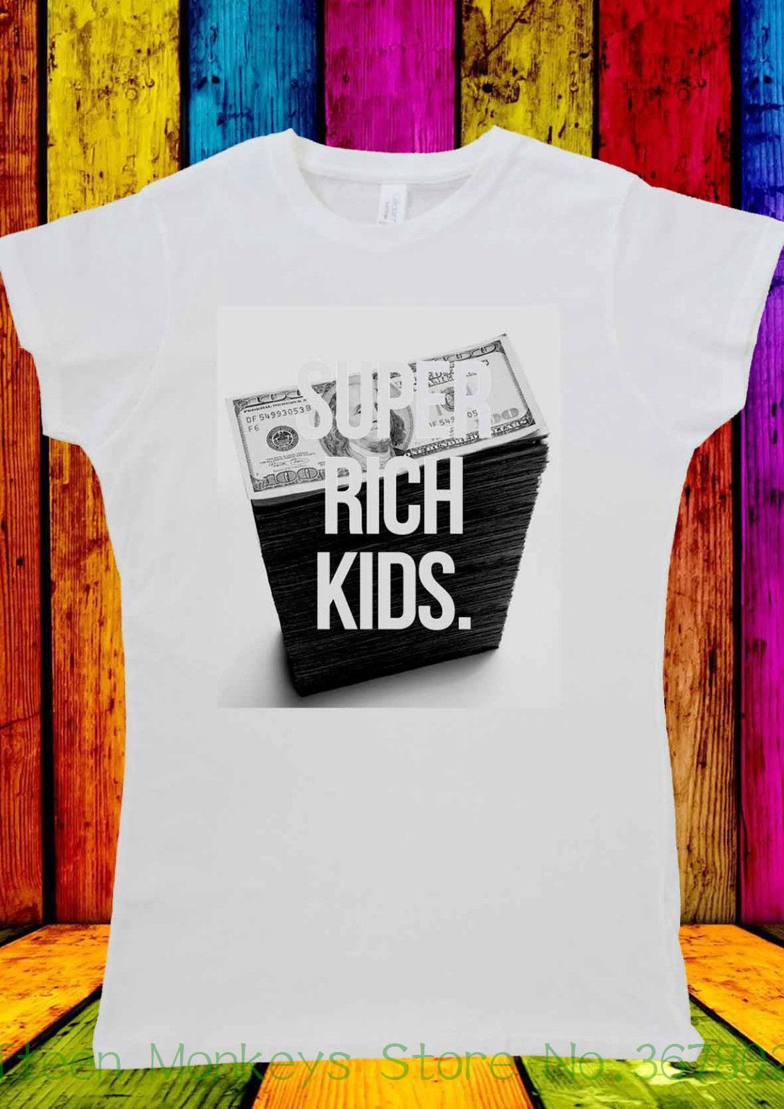 Women S Tee Super Rich Kids Money Dolar Tumblr T Shirt Men Women Unisex  1079 Funny Angel Grunge Femme Streetwear Silly Tee Shirts Tee Shirt Site  From Jie13, ... 32606d618d5a