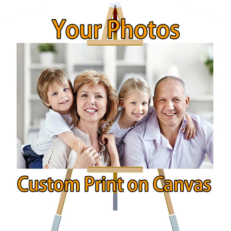 Drop Ship Custom Print Your Photo On Canvas And Silk Waterproof Painting Poster Spray Poster Picture Cuadros quadro Large Print