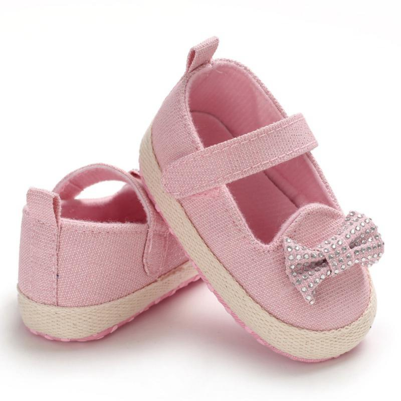 Summer Baby Girl Shoes Child Girl Cotton Sweet Princess Baby Dance Bow Toddler Girls Top Quality Shoes