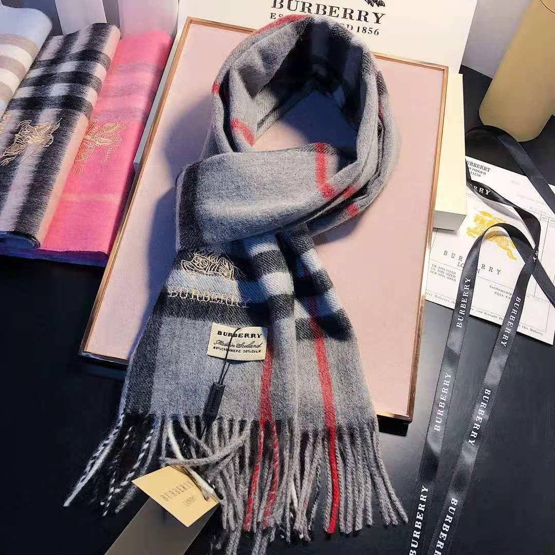 167c648219d78 Women Scarf Winter Unisex Cashmere Scarf Brand Luxury Classic Check ...