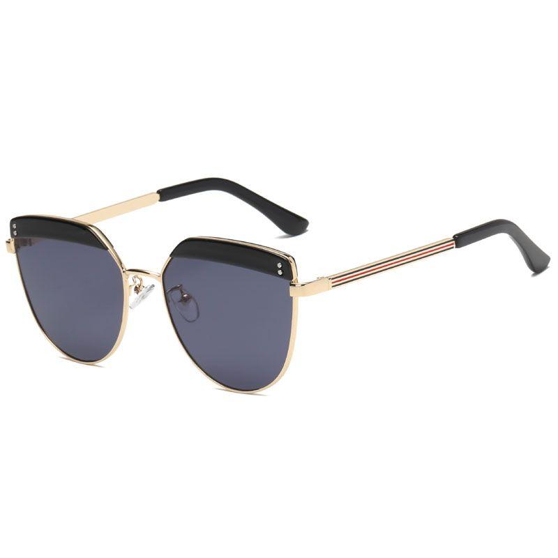 be32a64aec Compre Señoras De Gama Alta Gafas De Sol Redondas Para Mujer Moda Grandes  Ojos De Gato Ojos De Metal Marco De Marca Diseñador Retro Vintage Gafas De  Sol ...
