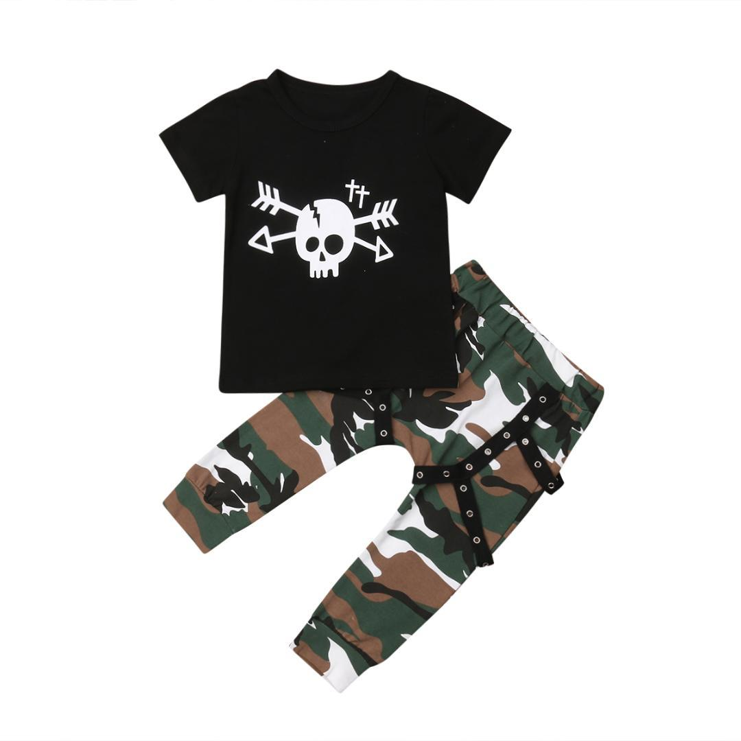 b3da1def2b2e 2019 2018 Multitrust Brand Cute Kids Baby Boy Skull T Shirt Tops ...