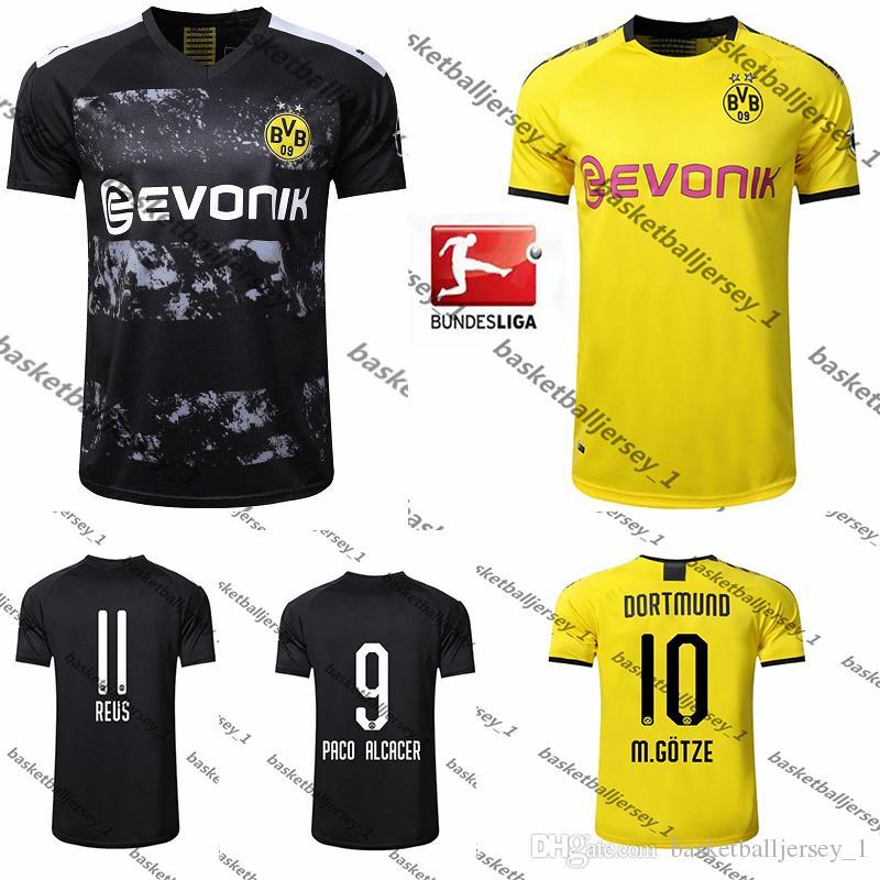 more photos a7c74 e6e5d 2019 2020 BVB Borussia Dortmund Soccer Jersey PHILIPP GOTZE REUS PULISIC  WITSEL maillot de foot Jersey 19 20 PACO ALCACER Football kit shirt