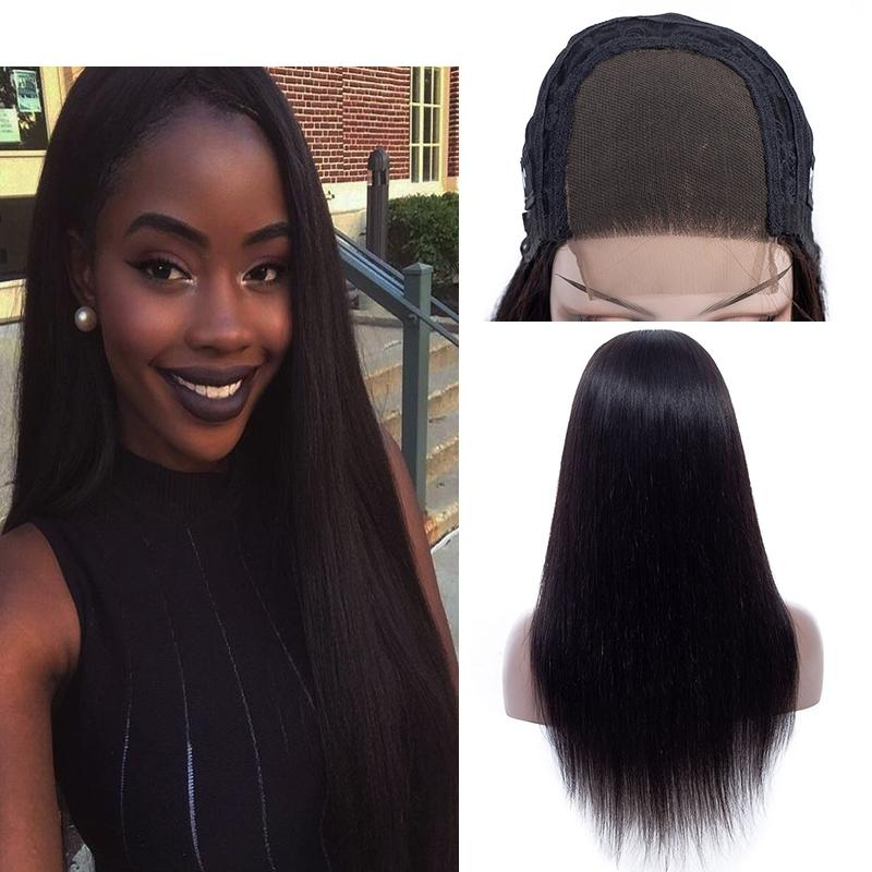 787ec0457 10 24 Inch 250% Density Human Hair Lace Front Wigs Straight Brazilian  Virgin Human Hair 4x4 Lace Closure Free Part Middle Part Wigs Free Wigs  Short Natural ...