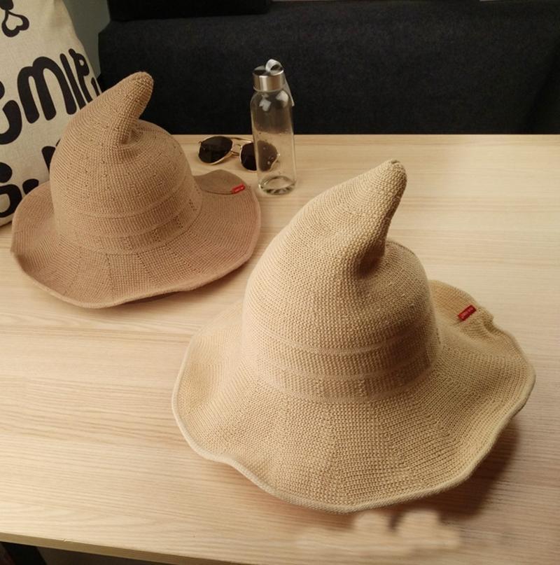 Korean Version Sorceress Steeple Short Eaves Breathable Wizard Hats Spring  And Summer Women Fisherman Shade Bucket Hat Bucket Hats Bucket Hat From  Gaiming 399e4ea0352