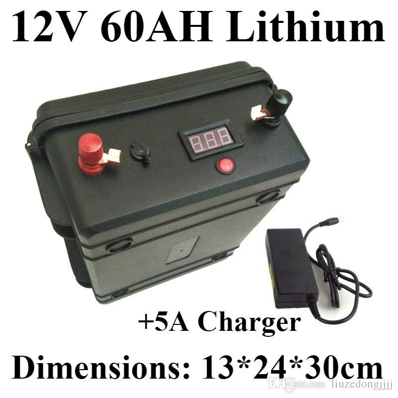 Lithium Car Battery >> Waterproof 18650 12v 60ah Lithium Ion Battery Led Voltage Display