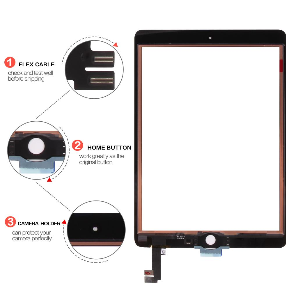 For iPad Air 2 2nd Gen A1567 A1566 Touch Screen Digitizer Sensor Panel  Glass Tablet Touch For iPad 6