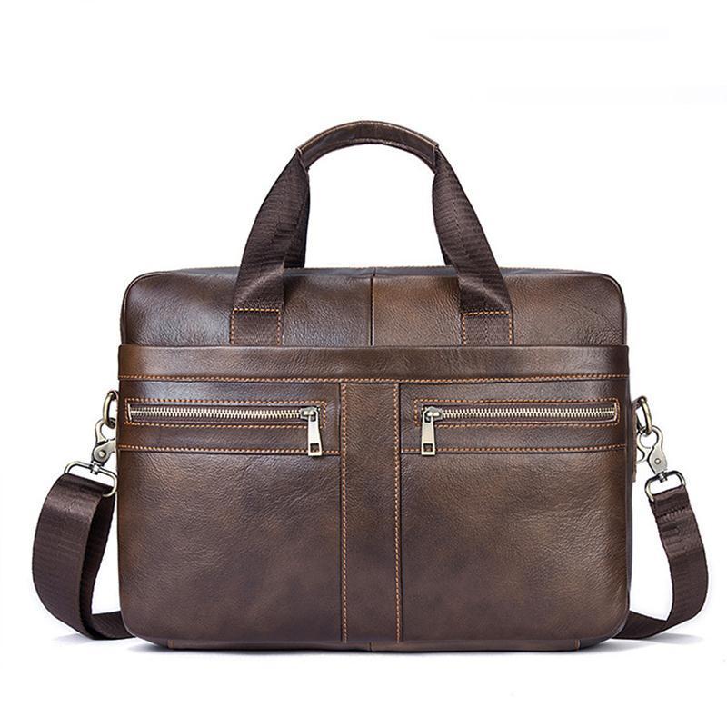 e12bbd020d14 2019 Designer Men Bag Leather Genuine Man Messenger Bag Briefcases Laptop Computer  Handbag Male Business Shoulder Crossbody Bags Leather Travel Bags ...