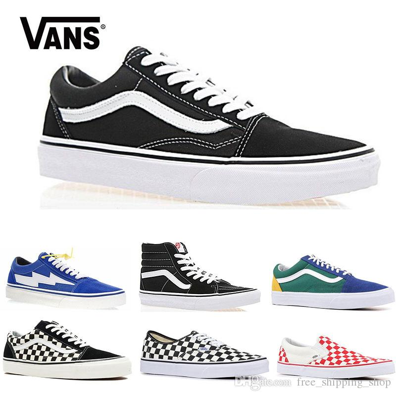 28f7aac34cd233 Original Vans Old Skool Men Women Casual Shoes Rock Flame Yacht Club  Sharktooth Peanuts Skateboard Mens Trainer Sports Running Shoe Sneakers  Canada 2019 ...