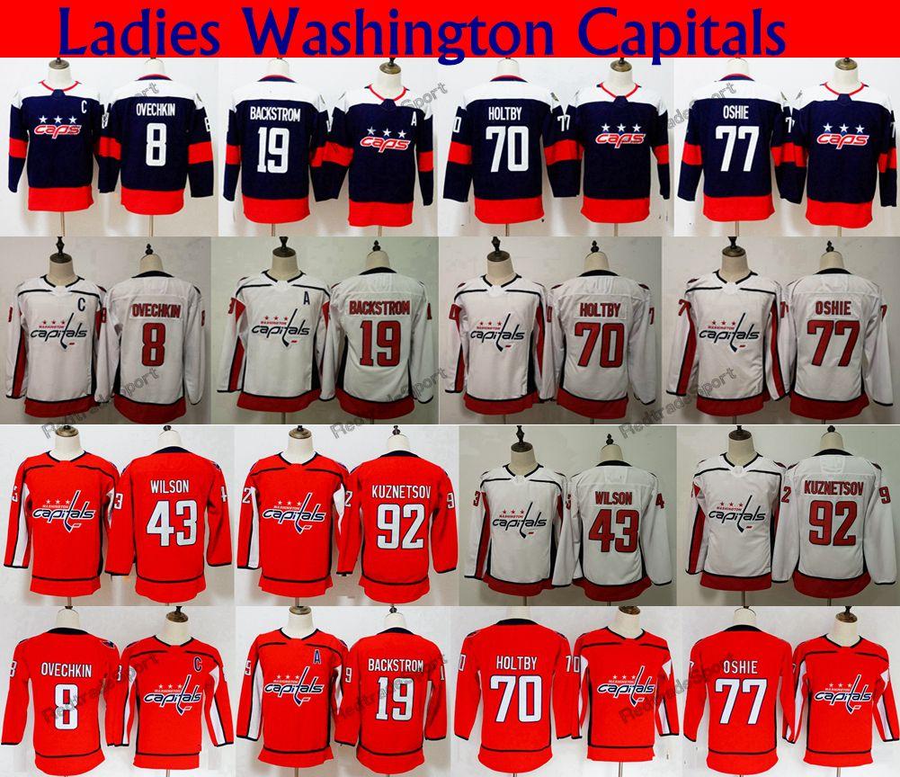 2019 Womens 2018 Stadium Series Washington Capitals 77 TJ Oshie 8 Alex  Ovechkin 70 Holtby 92 Kuznetsov 19 Backstrom 43 Tom Wilson Hockey Jerseys  From ... d5bb8befa