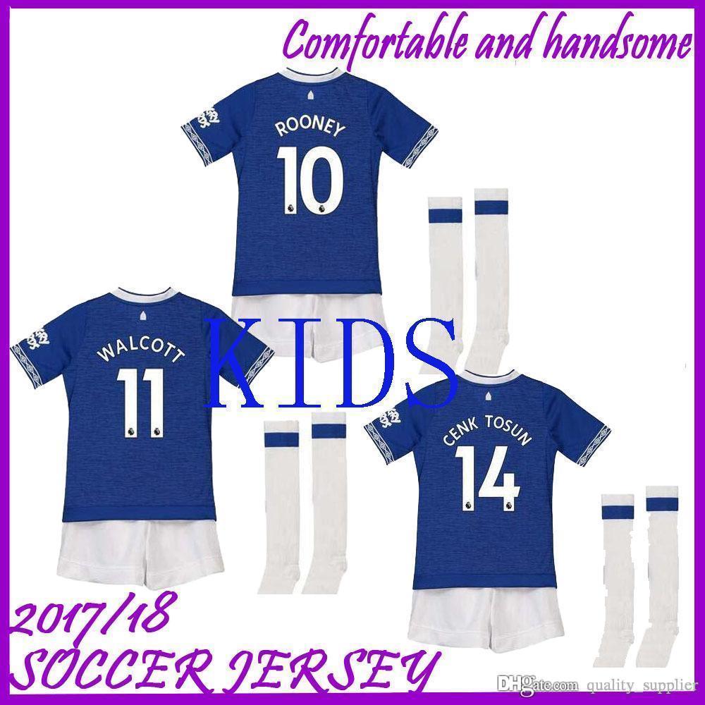 top fashion 97edc 1f346 2019 Kids kit Everton home away Soccer jersey 18 19 MINA ANDRE GOMEZ ZOUMA  DIGNE RICHARLISON WALCOTT youth kit Children football shirts