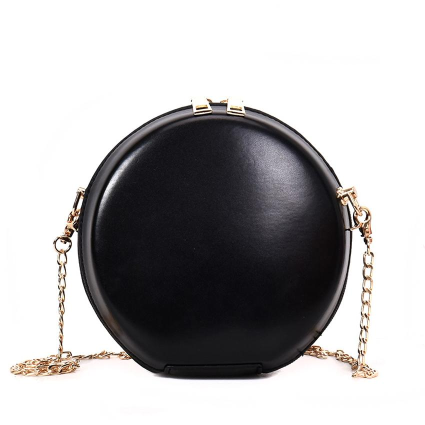 061d9f83c New women's round bags pu leather circle box handbags messenger bag for  lady causal shoulder bags circular bag