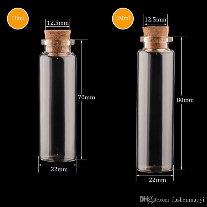 0a2a1c6aa837 Empty Glass Jars With Cork Glass Bottles Pendant Craft Clear Glass Vials  22mm Diameter Multiple Specification for Choose DHL shipping
