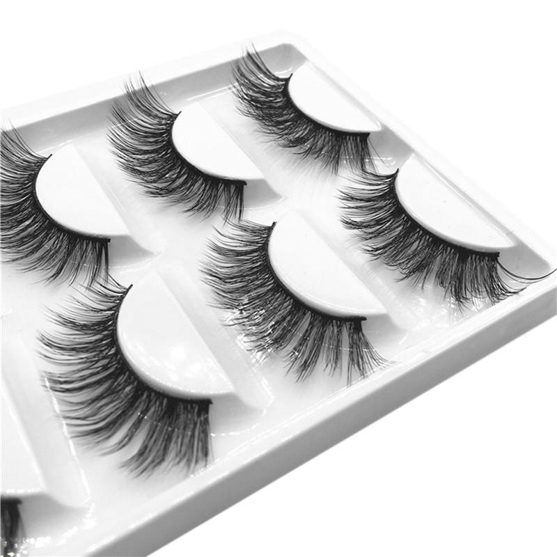 Kanbuder False Eyelashes Easy To Use3d False Lashes Fluffy Strip