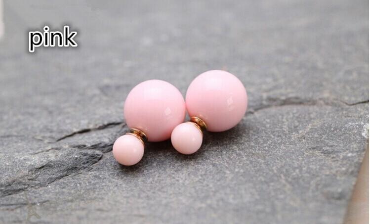 Preço de fábrica Vendas 11 cores de moda simulado pérola doces brincos de casamento brincos piercing 2 tamanhos brincos perle