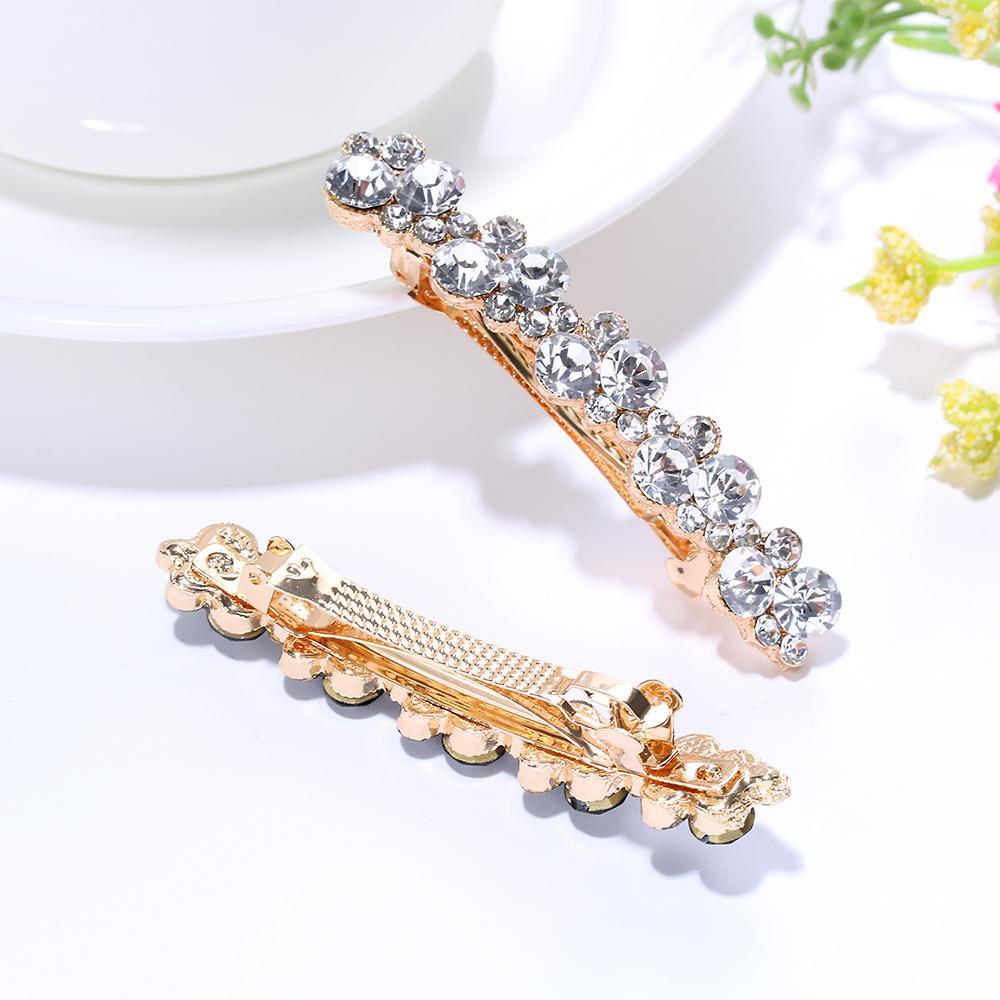 8a74ac101 Мода кристалл горный хрусталь жемчужина заколки для девочек заколки для  волос зажим зажим инструменты для укладки женские аксессуары