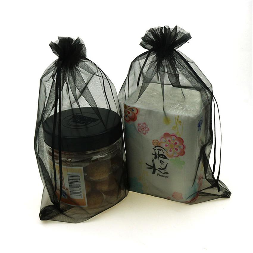 30x40cm Drawable Organza bag tulle fabric Wedding Gift Bags Jewelry Packaging Organza bags 6zSH321