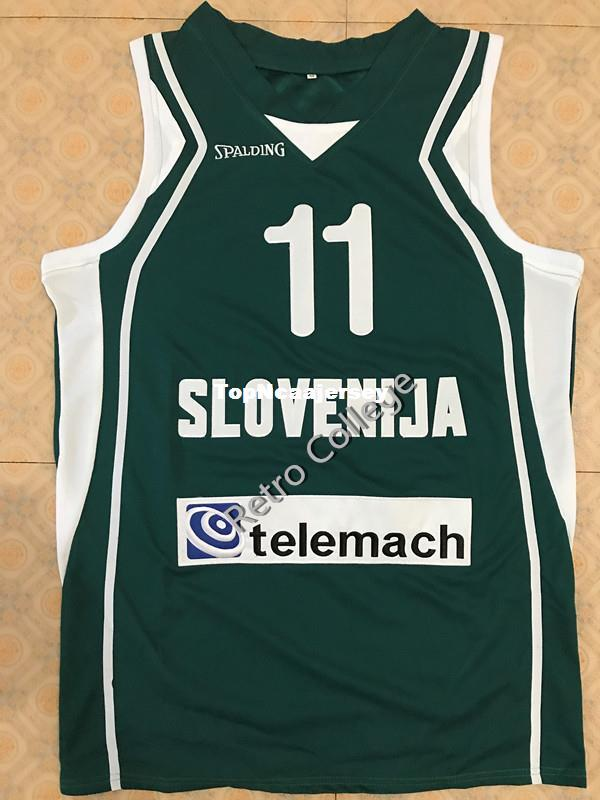 2019  11 Goran Dragic Slovenia EuroBasket 2011 Trikot Basketball Jersey All  Size Embroidery Stitched Customize Any Name And Name XS 6XL Vest Jers From  ... 446d9f422
