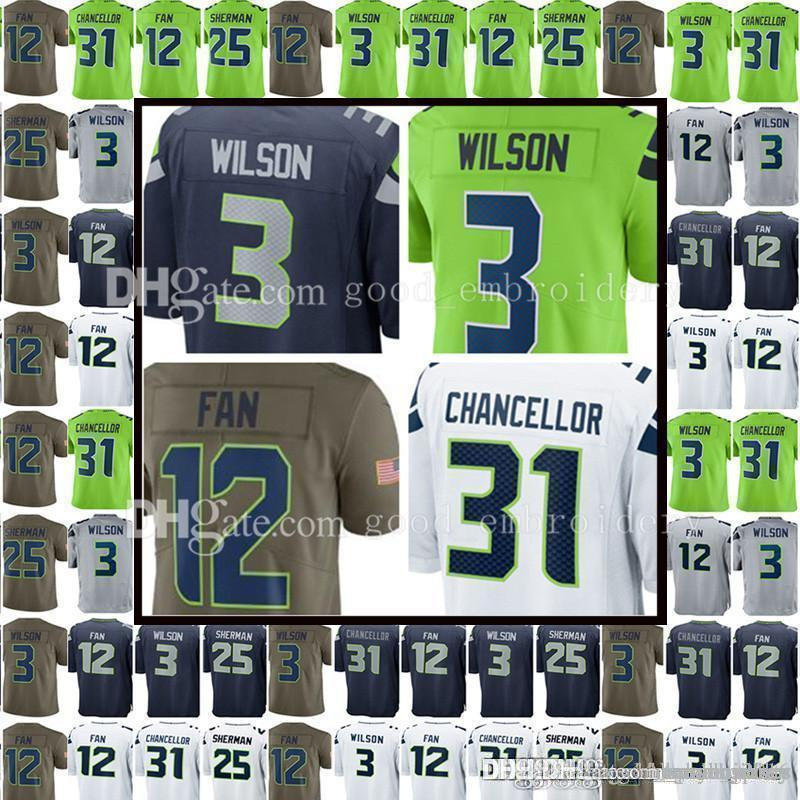 4ae8d356d4e ... canada 2018 seattle seahawk 3 russell wilson 12 12th fan jersey 31 kam  chancellor 25 richard