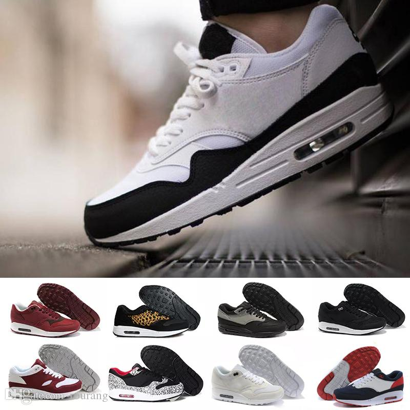 05daa8227 Cheap New Arrivel Famous 87 90 Ultra 1 Elephant Black Clear Jade-White Mens  Womens Running Shoes Sneakers Size 36-45