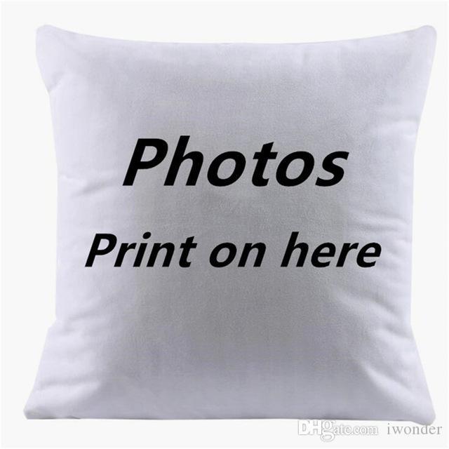 Personnalisé Housse de Coussin Taie D/'oreiller Imprimé Photo Personnalisé Pic fait Imprimer Cover