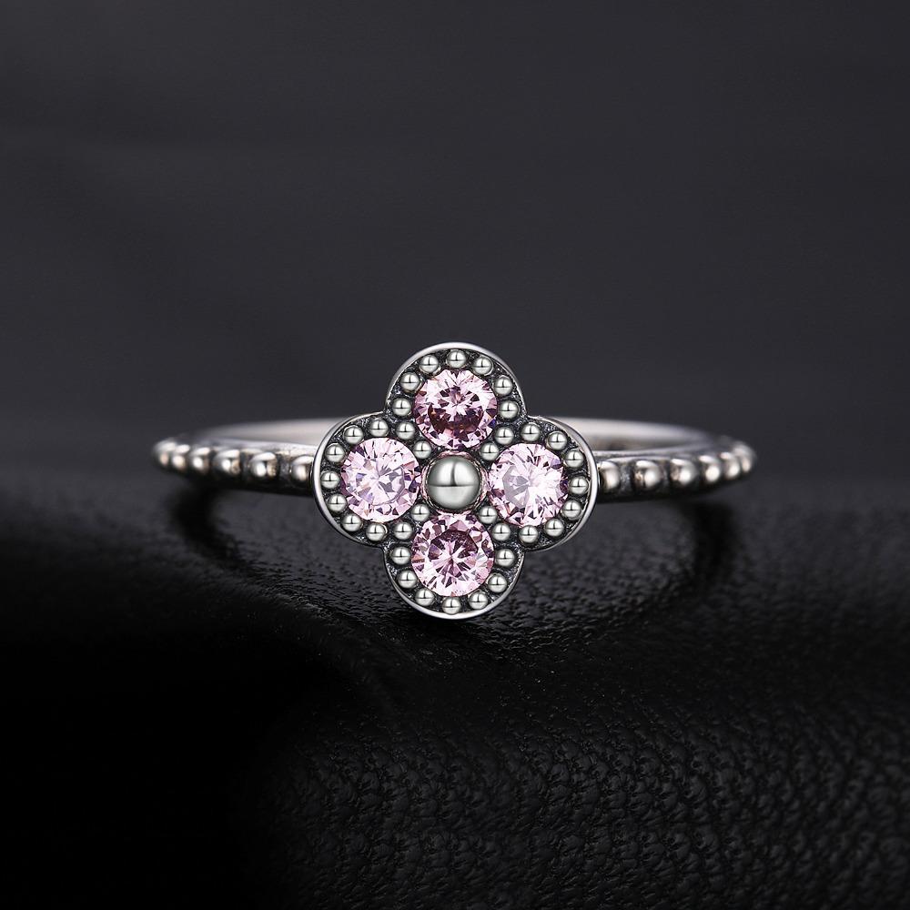 6ab0e2f8205 Acheter Ewelrypalace 925 Sterling Silver Glitter Rose Bague En Verre ...