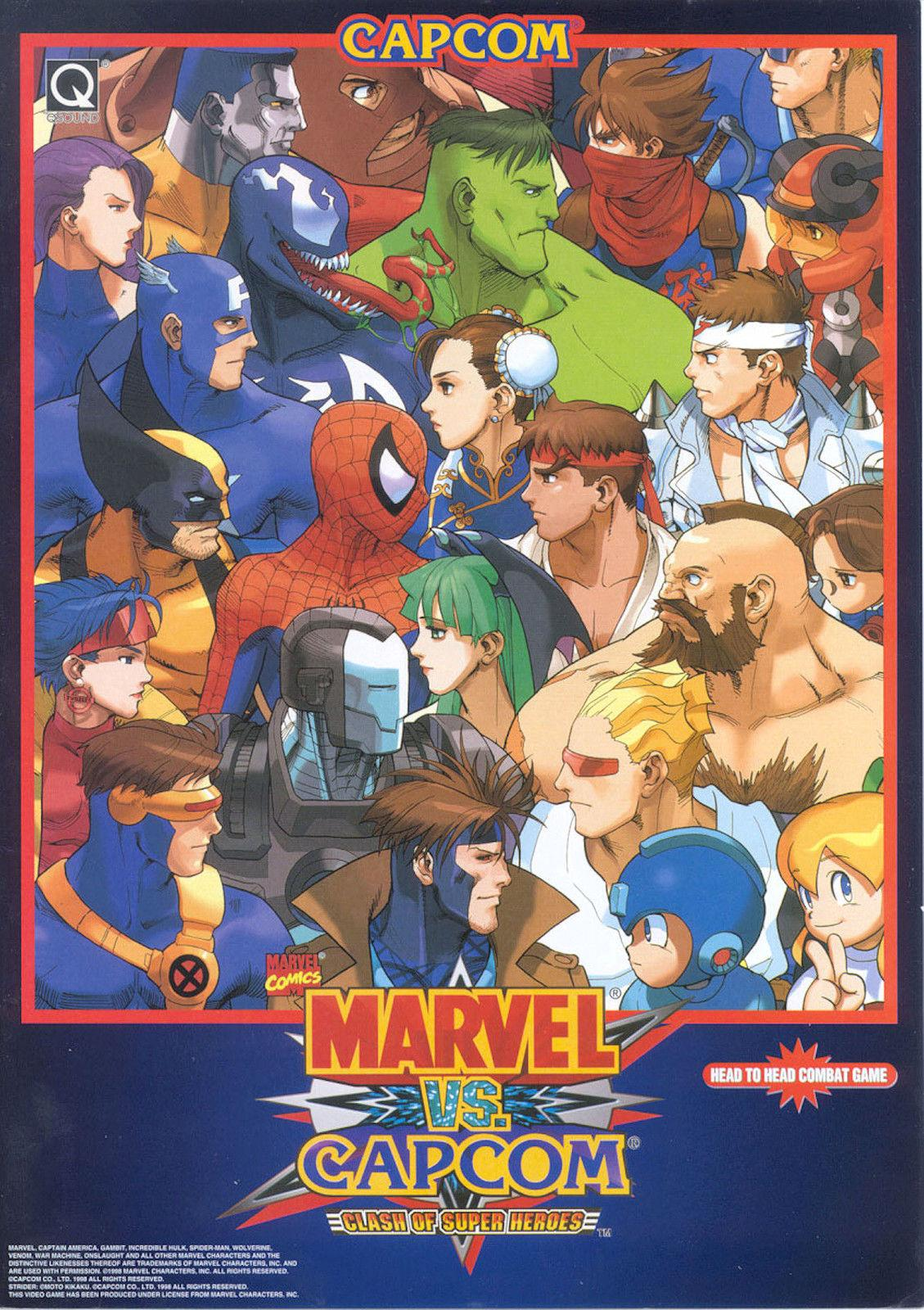 MARVEL VS CAPCOM Video Game Promo Art Silk Poster 24x36inch 24x43inch 12