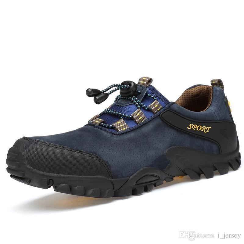 best sneakers fdfcb 729e9 2018 männer Wasserdichte Wanderschuhe Wildleder Bergsteigen Schuhe Qualität  Outdoor Trekking Atmungsaktiv Wandern Jagd Stiefel   114950
