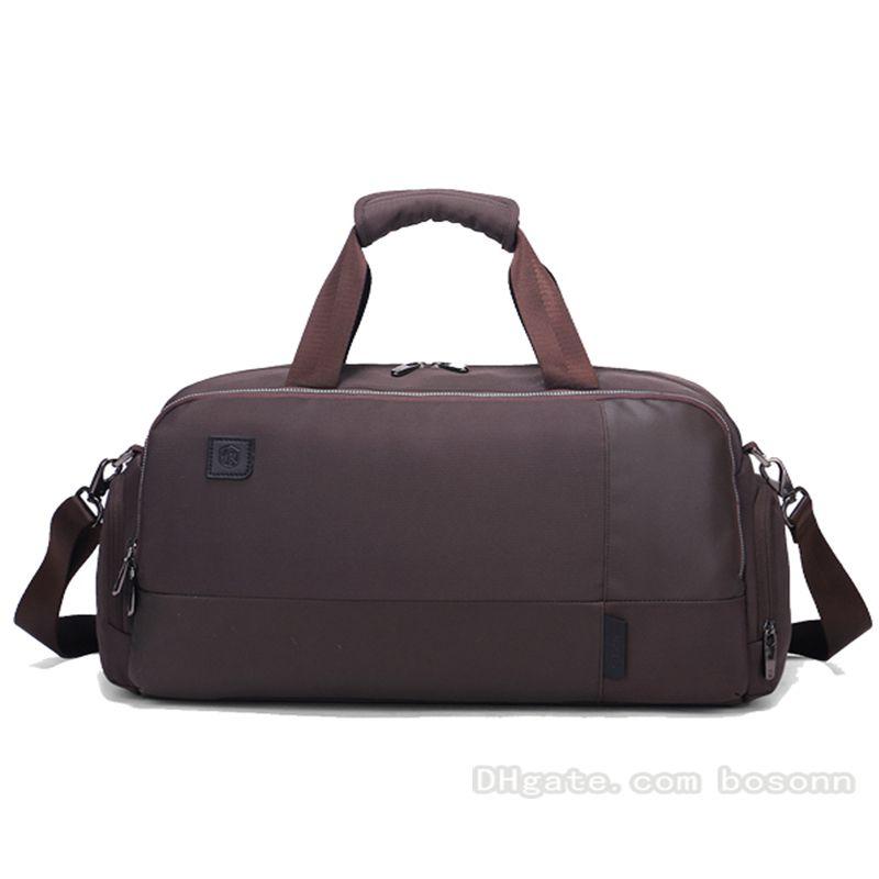 d5d2d8c020f Compre Bolsas De Viaje Duffel Bag De Gran Capacidad Equipaje Gimnasio Bolsa  De Deporte Bolsas Impermeables De Fin De Semana Para Hombres Mujeres Marrón  Azul ...