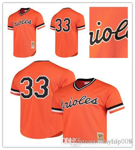 hot sale online d269d 0b942 Men's Orioles 33 Eddie Murray Mitchell & Ness Orange Cooperstown Mesh  Batting Practice Baltimore Jersey